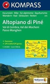 ALTOPIANO DI PINE mapa turystyczna 1:35 000 KOMPASS