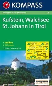 KUFSTEIN - WALCHSEE ST. JOHANN IN TIROL wodoodporna mapa turystyczna 1:25 000 KOMPASS