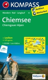 CHIEMSEE wodoodporna mapa turystyczna 1:50 000 KOMPASS