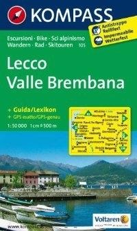 LECCO - VALLE BREMBANA mapa turystyczna 1:50 000 KOMPASS