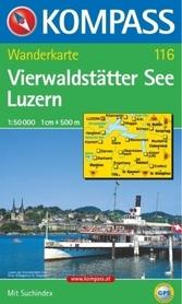 VIERWALDSTATTER SEE - LUZERN wodoodporna mapa turystyczna 1:50 000 KOMPASS