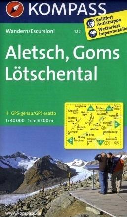 ALETSCH - GOMS - LOTSCHENTAL wodoodporna mapa turystyczna 1:40 000 KOMPASS
