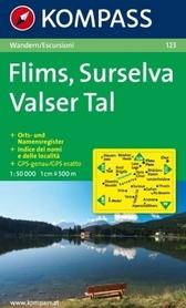 FLIMS - SURSELVA - VALSER TAL wodoodporna mapa turystyczna 1:50 000 KOMPASS