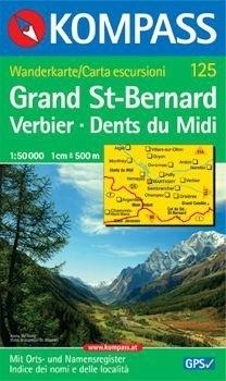 GRAND ST.BERNARD mapa turystyczna 1:50 000 KOMPASS