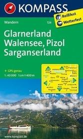 GLARNERLAND - WALENSEE wodoodporna mapa turystyczna 1:40 000 KOMPASS