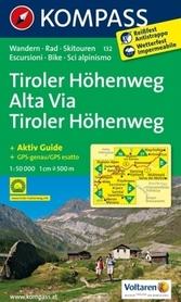 TIROLER HOHENWEG ALTA VIA wodoodporna mapa turystyczna 1:50 000 KOMPASS