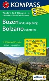 BOLZANO I OKOLICE wodoodporna mapa turystyczna 1:50 000 KOMPASS