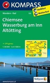 CHIEMSEE WASSERBURG wodoodporna mapa turystyczna 1:50 000 KOMPASS