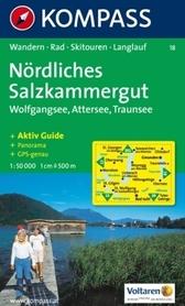 SALZKAMMERGUT NORDLICHES wodoodporna mapa turystyczna 1:50 000 KOMPASS