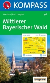 BAYERISCHER WALD MITTLERER wodoodporna mapa turystyczna 1:50 000 KOMPASS