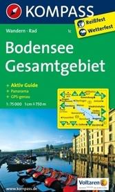 BODENSEE GESAMTGEBIET 1C wodoodporna mapa turystyczna 1:75 000 KOMPASS