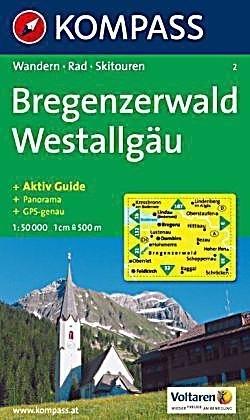 BREGENZERWALD wodoodporna mapa turystyczna 1:50 000 KOMPASS