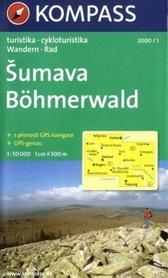 SUMAVA BOHMERWALD wodoodporna mapa turystyczna 1:50 000 KOMPASS