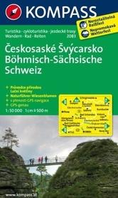 BOHMISCHE-SACHSISCHE SCHWEIZ wodoodporna mapa turystyczna 1:50 000 KOMPASS