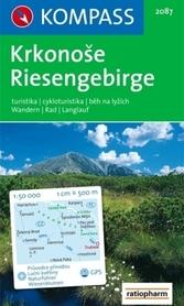 RIESENGEBIRGE KRKONOSE wodoodporna mapa turystyczna 1:50 000 KOMPASS