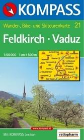 FELDKIRCH wodoodporna mapa turystyczna 1:50 000 KOMPASS