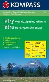 HOHE TATRA/ WYSOKIE TATRY mapa turystyczna 1:50 000 KOMPASS