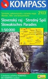 SLOWAKISCHES PARADIES mapa turystyczna 1:50 000 KOMPASS