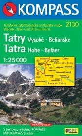 WYSOKIE TATRY mapa turystyczna 1:25 000 KOMPASS