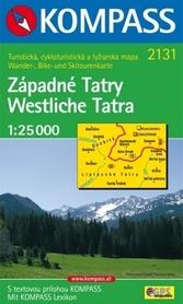 WESTLICHE TATRA mapa turystyczna 1:25 000 KOMPASS
