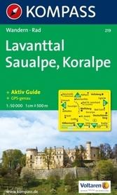 LAVANTTAL - SAUALPE - KORALPE mapa turystyczna 1:50 000 KOMPASS