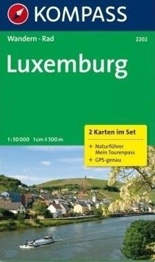 LUKSEMBURG LUXEMBURG mapa turystyczna 1:50 000 KOMPASS