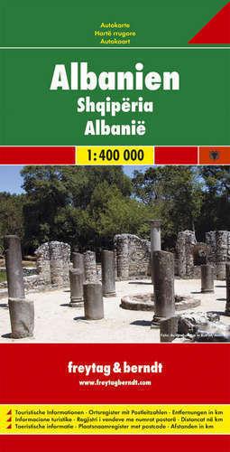 ALBANIA mapa samochodowa 1:400 000 FREYTAG & BERNDT