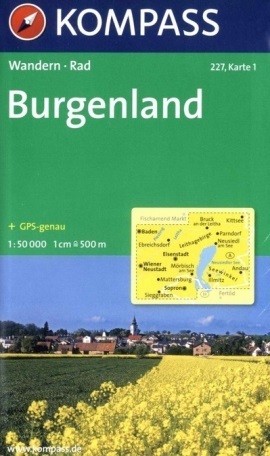 BURGENLAND mapa turystyczna 1:50 000 KOMPASS