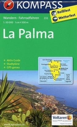 LA PALMA wodoodporna mapa turystyczna 1:50 000 KOMPASS