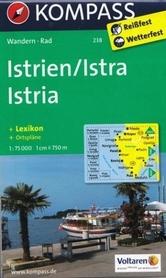 ISTRIA mapa turystyczna 1:75 000 KOMPASS