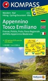 APPENNINO TOSCO EMILIANO Florencja Prato 2452 wodoodporna mapa turystyczna 1:50 000 KOMPASS