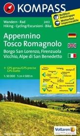 APPENNINO TOSCO ROMAGNOLO Borgo San Lorenzo 2453 wodoodporna mapa turystyczna 1:50 000 KOMPASS