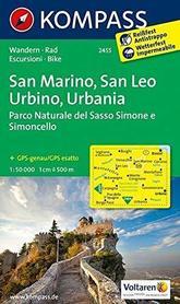 SAN MARINO - SAN LEO URBINO URBANIA wodoodporna mapa turystyczna 1:50 000 KOMPASS