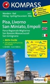 PISA LIVRONO SAN MINIATO wodoodporna mapa turystyczna 1:50 000 KOMPASS