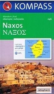 NAXOS mapa turystyczna 1:40 000 KOMPASS