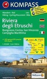 RIVIERA DEGLI ETRUSCHI wodoodporna mapa turystyczna 1:50 000 KOMPASS
