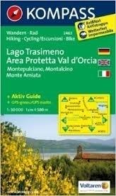 LAGO TRASIMENO wodoodporna mapa turystyczna 1:50 000 KOMPASS