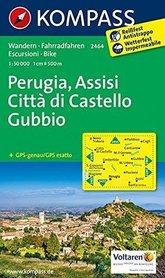 PERUGIA - ASYŻ- GUBBIO wodoodporna mapa turystyczna 1:50 000 KOMPASS 2015