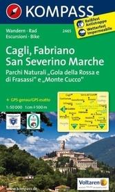 CAGLI-FABRIANO-SAN SEVERINO MARCHE wodoodporna mapa turystyczna 1:50 000 KOMPASS