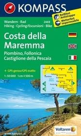COSTA DELLA MAREMMA wodoodporna mapa turystyczna 1:50 000 KOMPASS