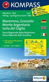 MAREMMA - MONTE ARGENTARIO wodoodporna mapa turystyczna 1:50 000 KOMPASS