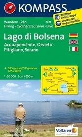 BOLSENA wodoodporna mapa turystyczna 1:50 000 KOMPASS