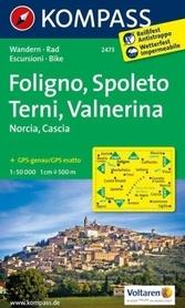 FOLIGNO - SPOLETO - TERNI - VALNERINA wodoodporna mapa turystyczna 1:50 000 KOMPASS