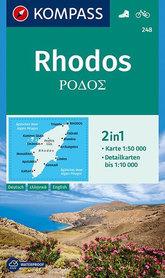 RHODOS RODOS wodoodporna mapa turystyczna 1:50 000 KOMPASS 2019