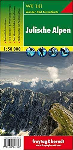 WK141 ALPY JULIJSKIE mapa turystyczna 1:50 000 FREYTAG & BERNDT