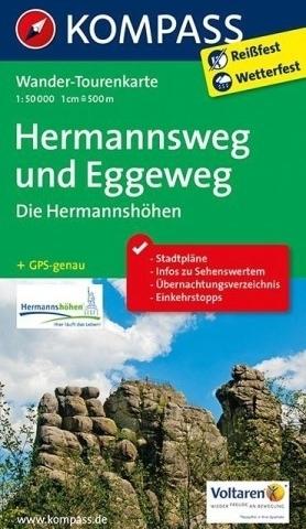 HERMANNSWEG - EGGEWEG wodoodporna mapa turystyczna 1:50 000 KOMPASS