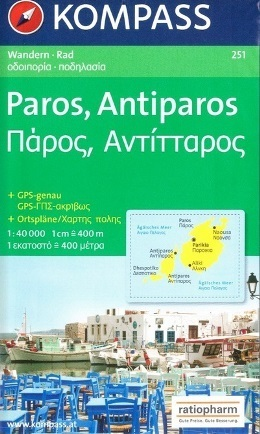 PAROS - ANTIPAROS mapa turystyczna 1:50 000 KOMPASS