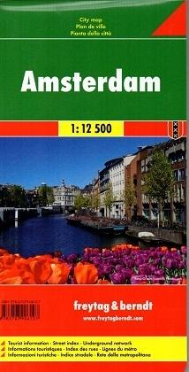 AMSTERDAM plan miasta 1:12 500 FREYTAG & BERNDT