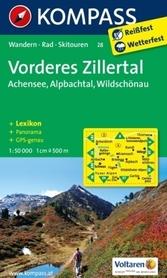 VORDERES ZULLERTAL wodoodporna mapa turystyczna 1:50 000 KOMPASS