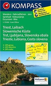 TRIEST LAIBACH wodoodporna mapa turystyczna 1:75 000 KOMPASS